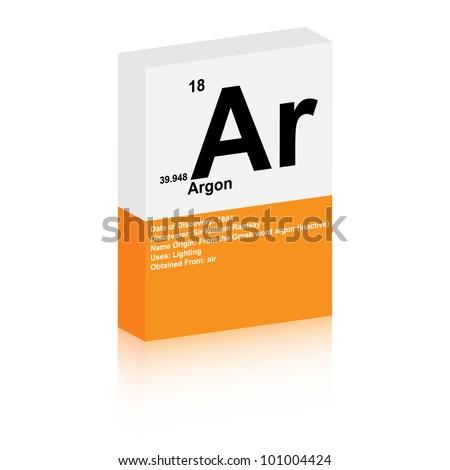 argon symbol - stock vector