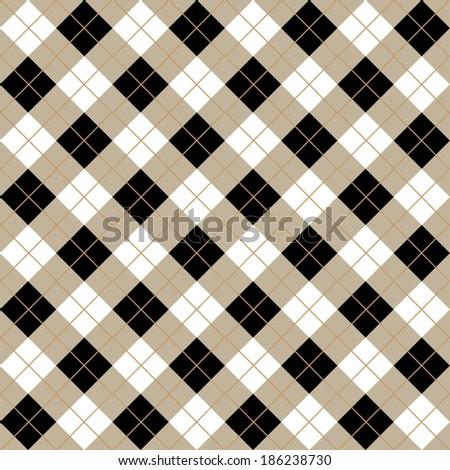 Argyle Diamond Seamless Pattern Design - stock vector