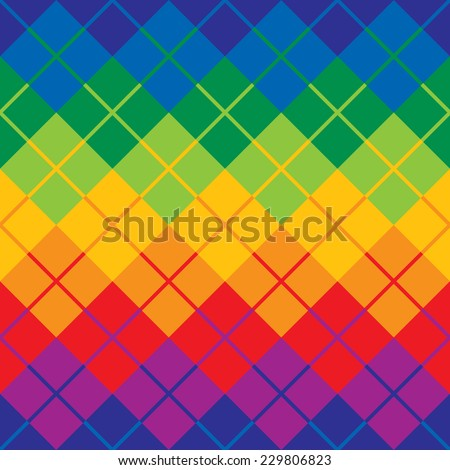 Argyle Pattern In Primary And Secondary Colors Repeats Seamlessly