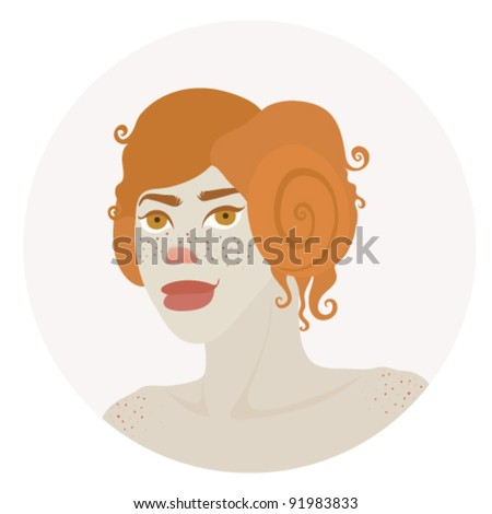 Aries zodiac sign vector illustration - stock vector