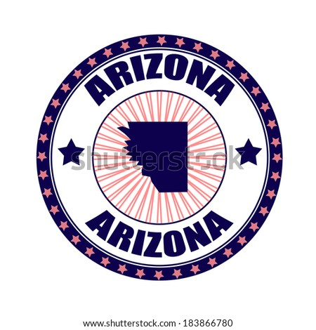 arizona grunge stamp with on vector illustration