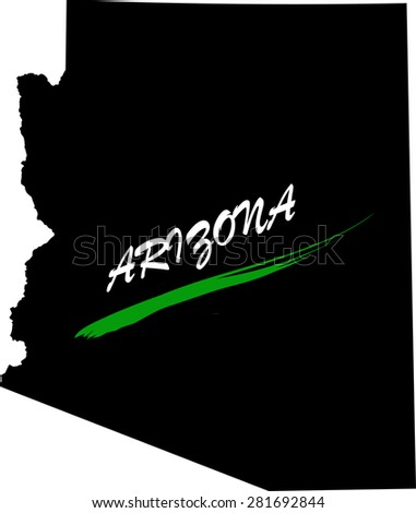 Arizona map vector in black and white background, Arizona map outlines in a new design - stock vector