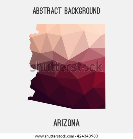 Arizona state map in geometric polygonal style.Abstract tessellation,modern design background. Vector illustration EPS8