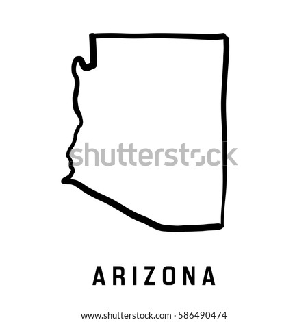 Arizona State Outline Stock Images RoyaltyFree Images Vectors