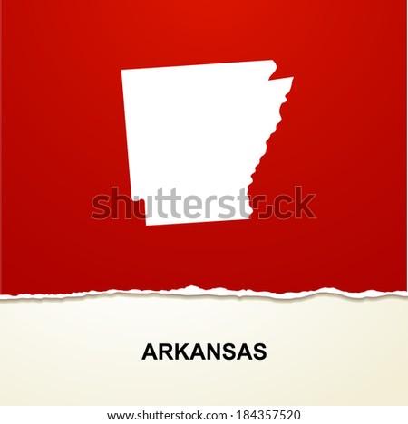 Arkansas map vector background - stock vector