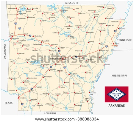 Mississippi Road Map Stock Vector Shutterstock - Road map of mississippi