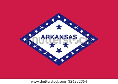 Arkansas state flag - stock vector