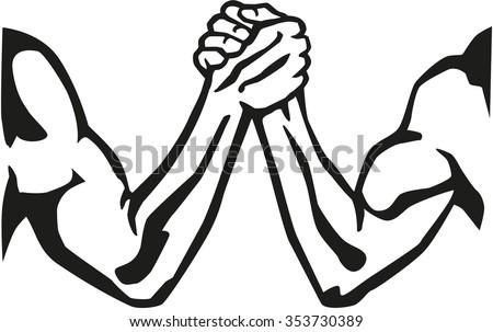 arm wrestling silhouette stock vector hd royalty free 353730389 rh shutterstock com Free Clip Art Shove Clothes Clip Art Free