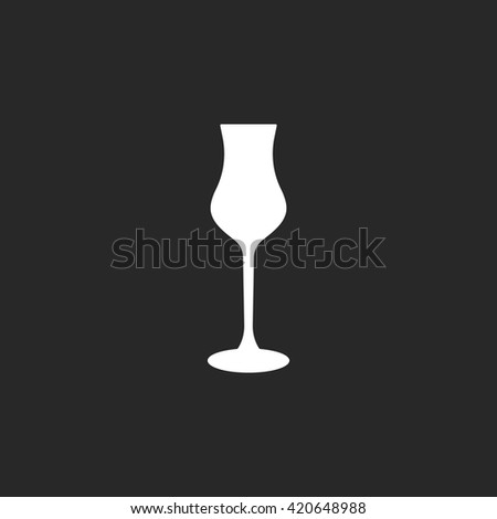 Armagnac Glass sign  simple icon on background - stock vector