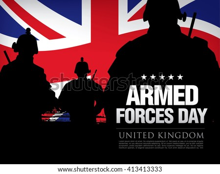 Armed Forces Day in the United Kingdom template poster design