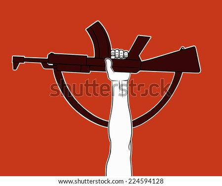 Armed revolution - stock vector