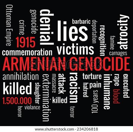 Armenian Genocide word cloud concept, vector   - stock vector