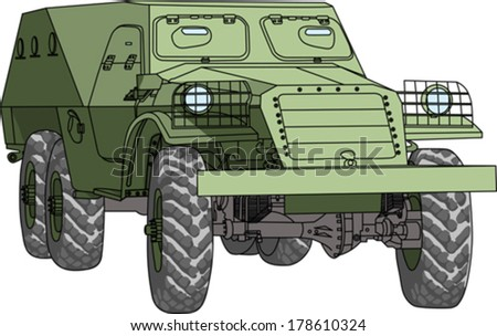 armored troop-carrier vector isolated on white background