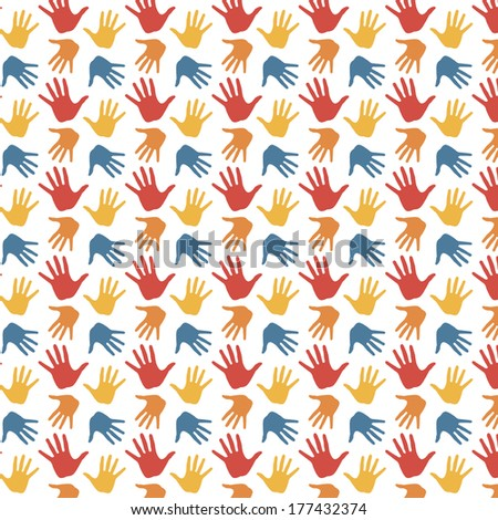 arms pattern - stock vector