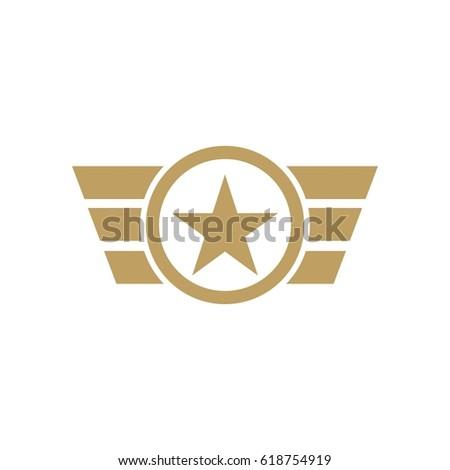 army military logo design vector stock vector 618754919