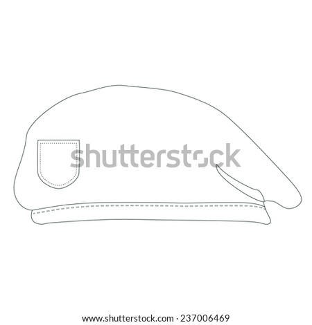 0523f67f429 Army beret outline drawings military beret stock vector royalty jpg 450x470  Barrett hat drawing