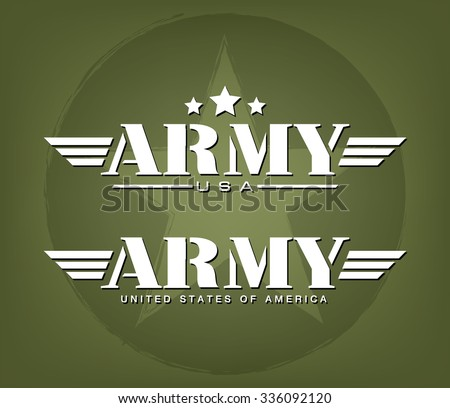 Army Graphic template, Vector illustration