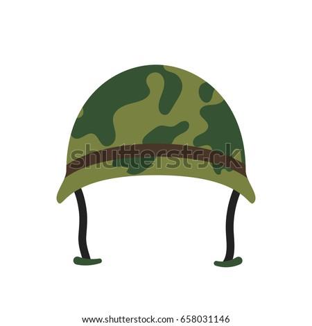 army hat vector icon stock vector hd royalty free 658031146 rh shutterstock com Cartoon Army Guy Cartoon Banner
