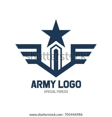 army logo template military logo concept stock vector royalty free