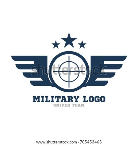 army logo template military logo concept stock vector 705453463 shutterstock. Black Bedroom Furniture Sets. Home Design Ideas