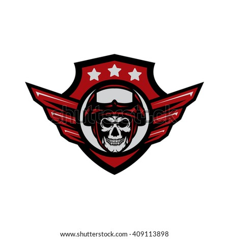 Army Skull Badge Logo