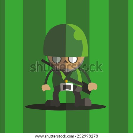 Army soldier icon great for any use. Vector EPS10. - stock vector