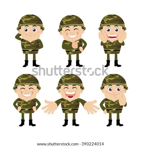 Army soldiers - stock vector