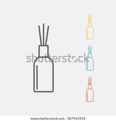 Aromatherapy reed diffuser line icon. Vector illustration. - stock vector