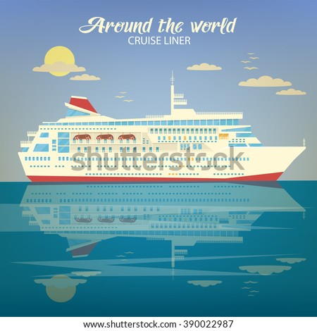Dream liner stock images royalty free images vectors for Around the world cruise ship