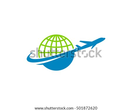 Around World Travel Logo Design Template
