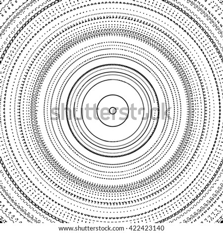 Array with Particles. Abstract Dynamic Background. Technology Vector Illustration. - stock vector