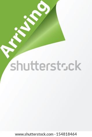 Arriving corner vector - stock vector