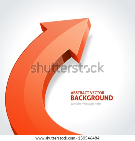 Arrow abstract 3d vector background