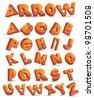 Arrow Alphabet Icon Symbol Set EPS 8 vector, grouped for easy editing. - stock vector