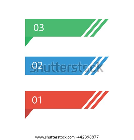 Arrow Banner template info graphic element template