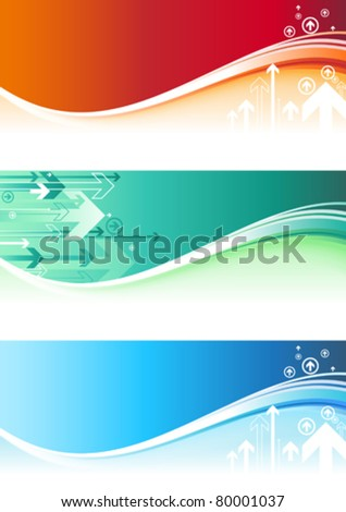 Arrow Banners - stock vector
