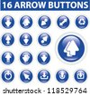 arrow buttons, icons set, vector - stock vector