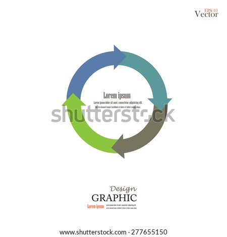 arrow circle .arrow   colorful. Circle.vector  Illustration . - stock vector