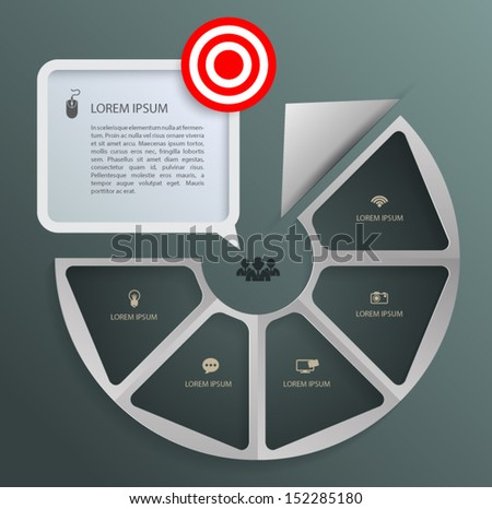 Arrow circle step to target . can use for minimal infographic template / business concept / education diagram / object for printing and website. - stock vector