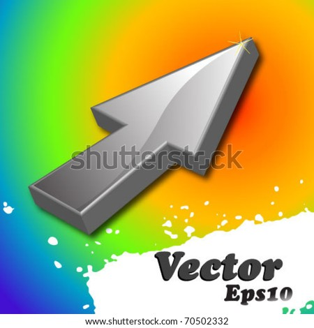 Arrow cursor - stock vector