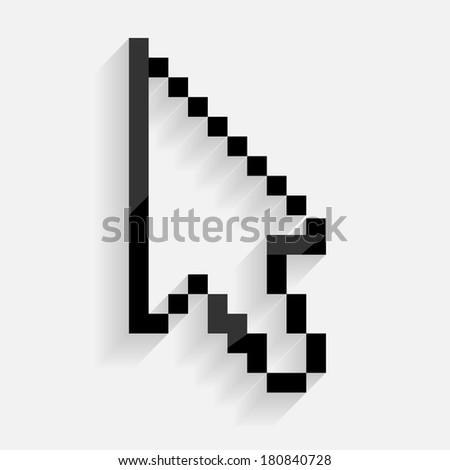Arrow cursor vector illustration - stock vector
