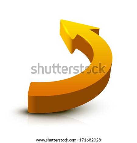Arrow 3D - stock vector
