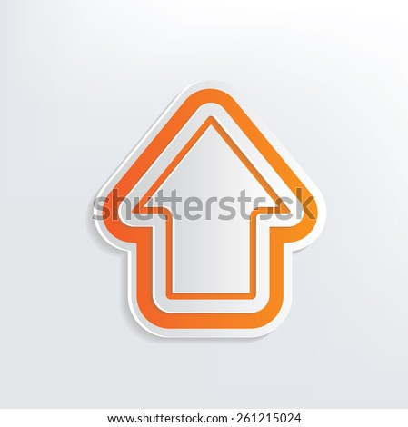 Arrow design on white background,clean vector - stock vector