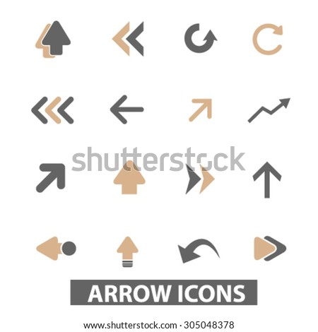arrow, direction flat icons, signs, illustration concept, vector - stock vector