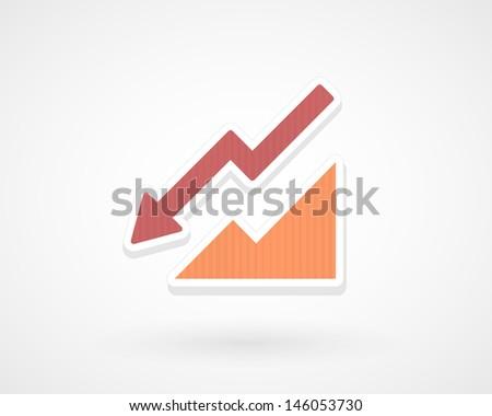 Arrow down - stock vector