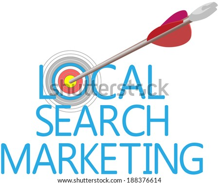 Arrow find Local Search website marketing target - stock vector