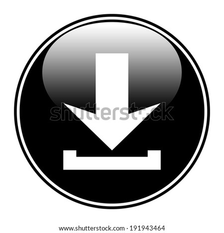Arrow icon download on white background. - stock vector