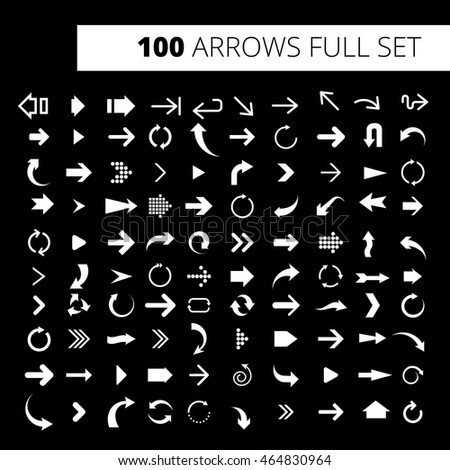 Arrow Icon Full Set. It can be used for WEB, printing, advertising and information about your business or project.