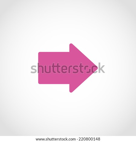 Arrow Icon Isolated on White Background