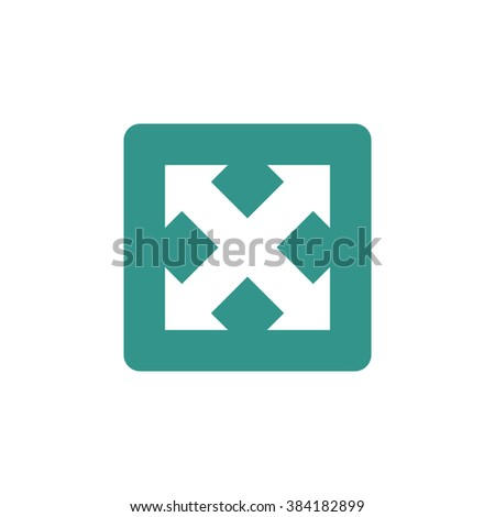 Arrow Icon On Green Rectangle Background Stock Vector ...